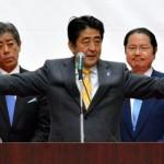 安倍晋三首相、大分市で街頭演説