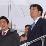安倍晋三首相、津田沼、市川、松戸、柏、新松戸で政策推進を演説